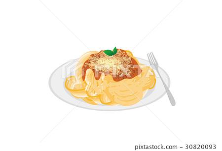 今天的米饭意大利面肉酱 30820093