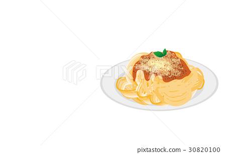 今天的米饭意大利面肉酱 30820100