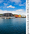 View of a marina in Tromso, North Norway 30821294