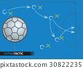 Futsal game strategy plan. Vector illustration 30822235