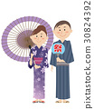 yukata, japanese, umbrella 30824392