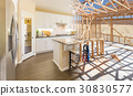 Transition of Beautiful New Home Kitchen  30830577