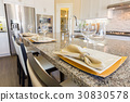 Abstract of Beautiful Kitchen Granite Counter Top 30830578