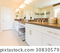 Modern Bathroom Sink Faucet Subway Tile Counter 30830579