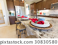 Abstract of Beautiful Kitchen Granite Counter Top 30830580