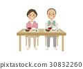 senior, dining, table 30832260
