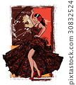 Flamenco spanish dancer woman 30832524