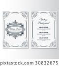 vintage, flyer, template 30832675