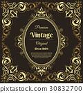 vintage, flyer, template 30832700