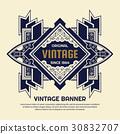 vintage, flyer, template 30832707