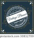 vintage, flyer, template 30832709