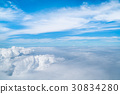 Sky and clouds viewed from airplane 30834280