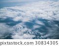 Sky and clouds viewed from airplane 30834305