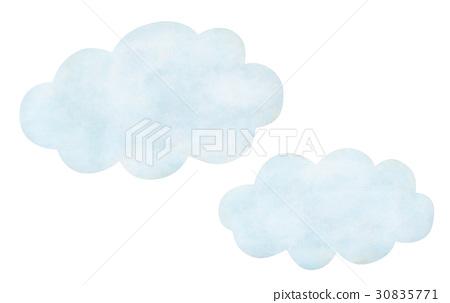 手繪天氣多雲的雲 30835771