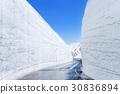 벽, 다테야마, 눈 30836894