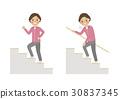 シニア 階段 女性 運動 30837345