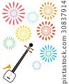 三弦琴 弦乐器 日本传统乐器 30837914