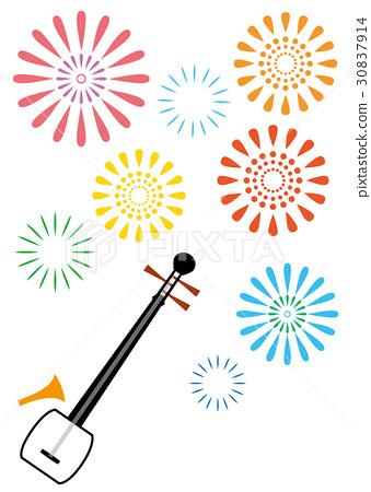 三弦琴 弦樂器 日本傳統樂器 30837914