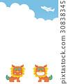 시사, 오키나와 사자상, 비행기 30838345