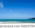 People playing parasailing in Phuket, Thailand 30839788