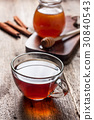 cup of hot tea ,  honey 30840543