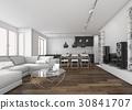 scandinavian living room and kitchen 30841707