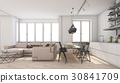 scandinavian living room and kitchen 30841709