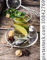 tea with mint and lemon 30842769