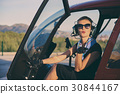 Attractive woman pilot 30844167