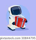 Modern Robot Hold Gift Box, Futuristic Artificial 30844795