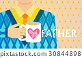Happy Father Day Family Holiday, Greeting Card 30844898