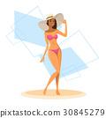 Tanned Woman In Bikini, Long Leg Sexy Girl Wear 30845279