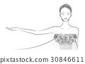 美丽的女人剪贴画 30846611