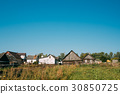 Old Russian Traditional Wooden Houses In Village 30850725