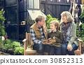 Grandparents Teaching Reading Book Garden 30852313