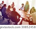 Diverse People Meeting Listening to Speaker Meeting 30852458