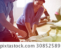 Group of people massage training course 30852589