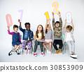 Children Holding Figures Studio Concept 30853909