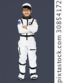 Young Boy in Astronaut Costume Studio Portrait 30854172