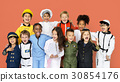 Group of Diverse Kids Wearing Career Costume Studio Portrait 30854176