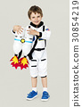 Little boy with astronaut dream job smiling 30854219