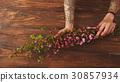 Sakura branches in female hands 30857934