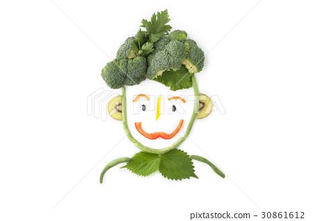 人形,西蘭花,獼猴桃,蹺蹺板(蔬菜),辣椒粉,栗子 30861612