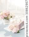 꽃, 리본, 분홍 30862907