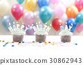 생일케이크, 생일파티, 초 30862943