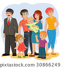 vector, family, father 30866249