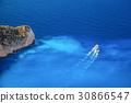 Zakynthos island with tourist boat in Greece 30866547