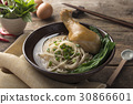 Asian noodles, bowl of noodles with vegetables and 30866601