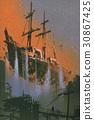 海盗船 漂浮的 天空 30867425