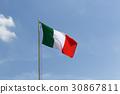 Italy flag Italian 30867811